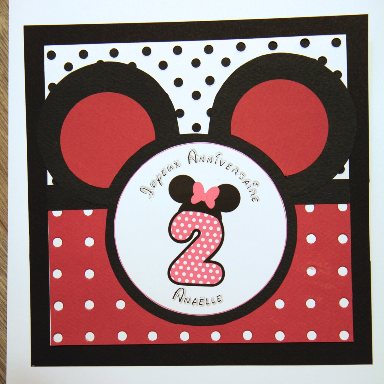 Carte Anniversaire Minnie